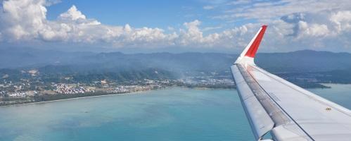 Perth to Kota Kinabalu Flight Aerial View