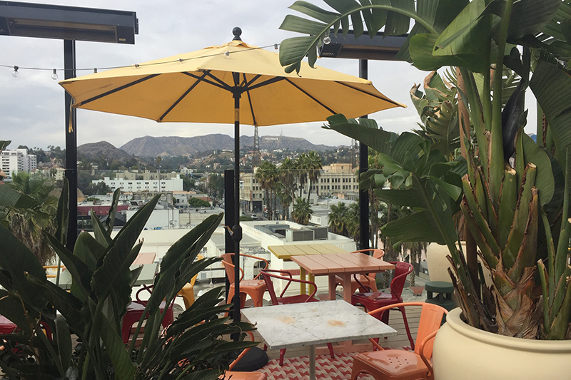 Rooftop restaurant at Mama Shelter Los Angeles