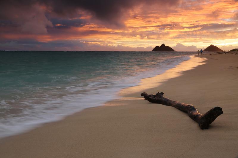 Lanikai Beach view from the sand