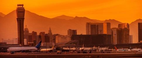 Melbourne to Las Vegas flight landed