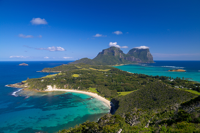 Looking over Lord Howe Island, NSW from the Malabar Track.