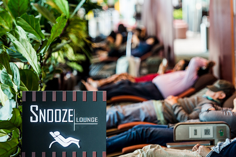 Snooze Lounge in Terminal 3, Singapore Changi Airport