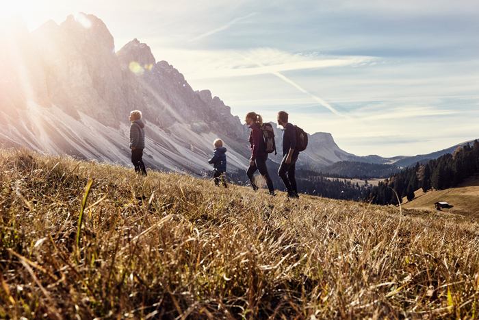 family hiking in Europe - life lessons from travelling with a kid