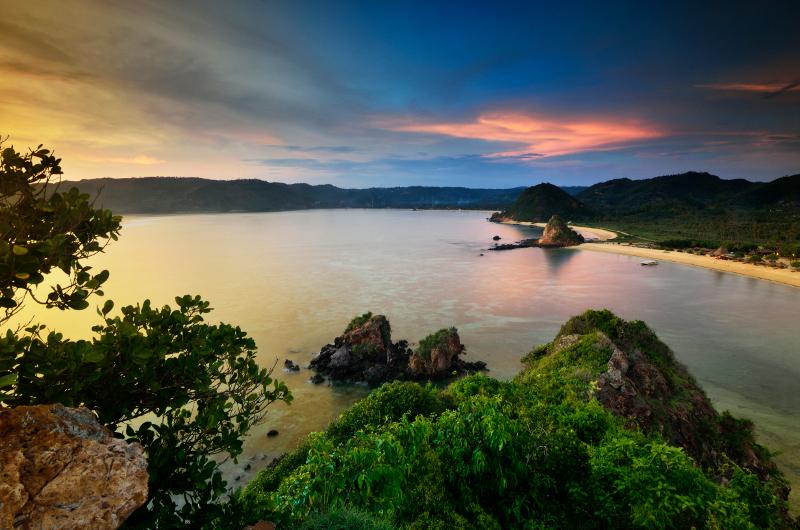 Beautiful panoramas over Lombok bays.