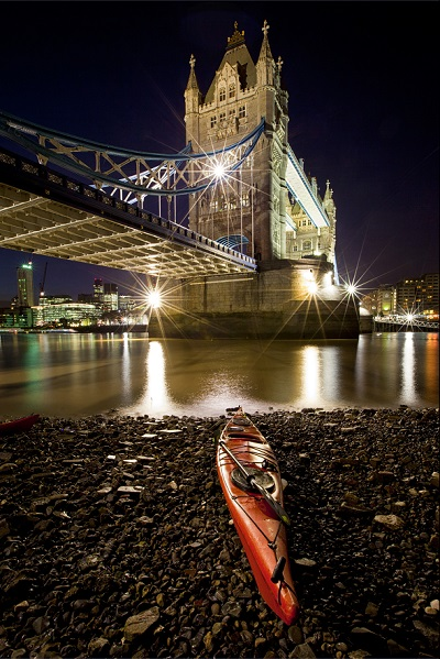 kayak on the thames