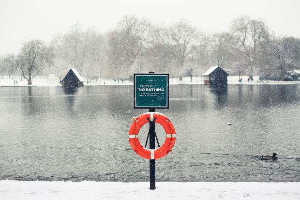 A frozen lake in London