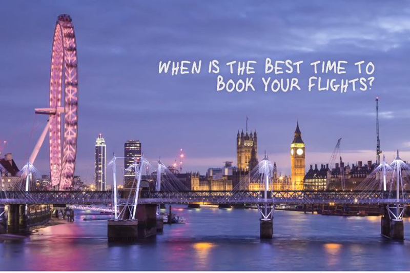 Best time to book flights to London