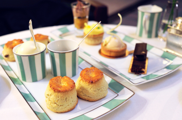 A traditional afternoon tea setting