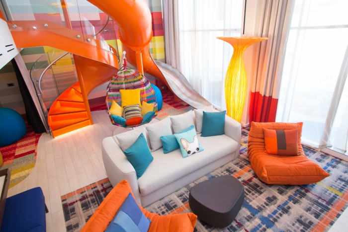 "RCI's ""Ultimate Family Suite"", which sleeps up to eight people. Image: Royal Caribbean International."