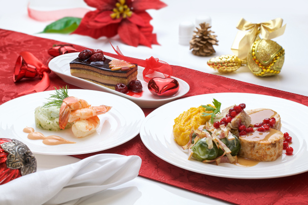 Emirates' First Class festive menu.