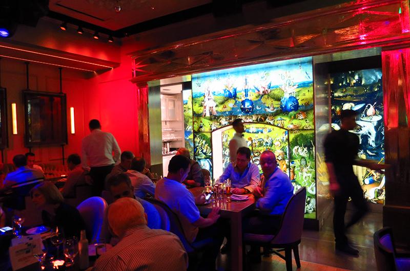 Interior of Rose. Rabbit. Lie. supper club, Las Vegas