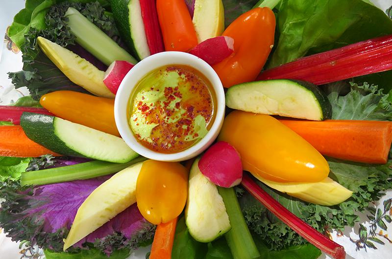 Spring vegetables dish at Primrose, Park MGM Las Vegas