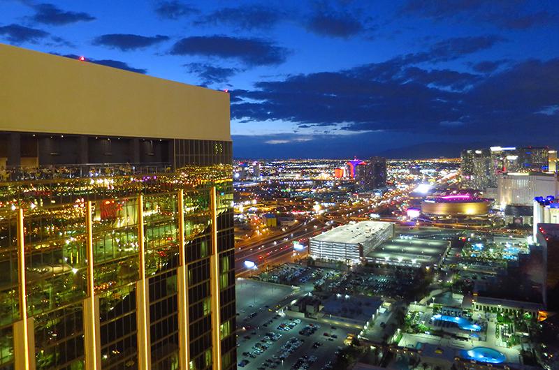 View of Las Vegas from Rivea Las Vegas restaurant