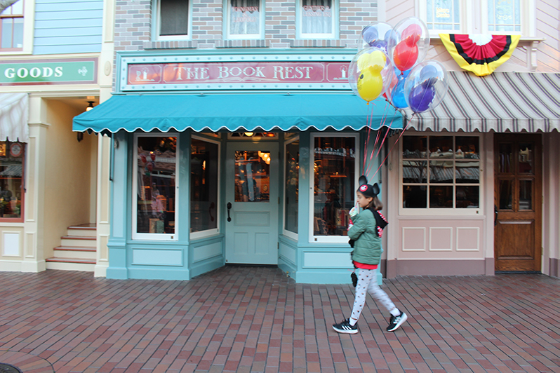 Walking down Main Street, U.S.A., Disneyland Resort