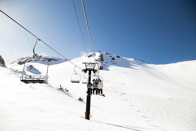 Chairlifts at Mammoth Mountain, California