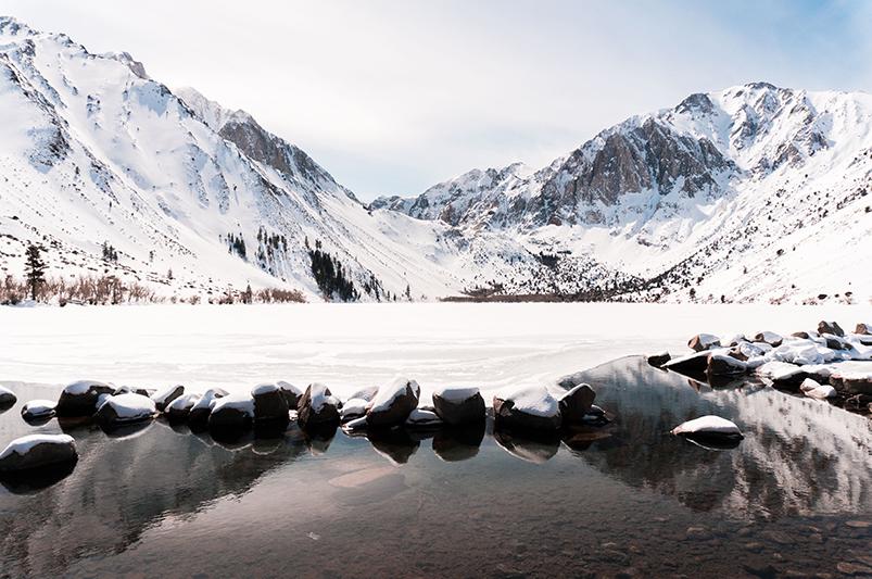 Winter snowscape in the Eastern Sierras, California