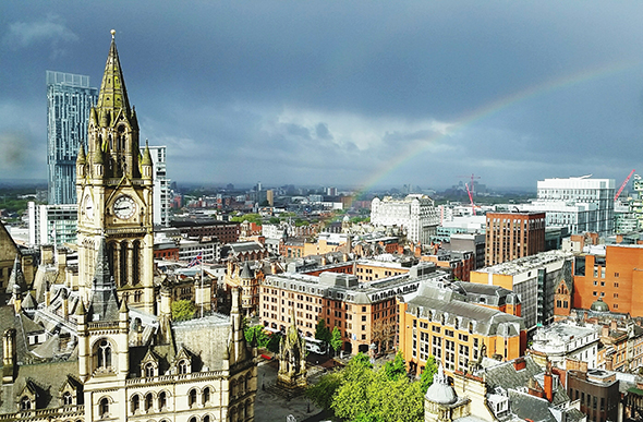 Manchester as seen from Chancery Place