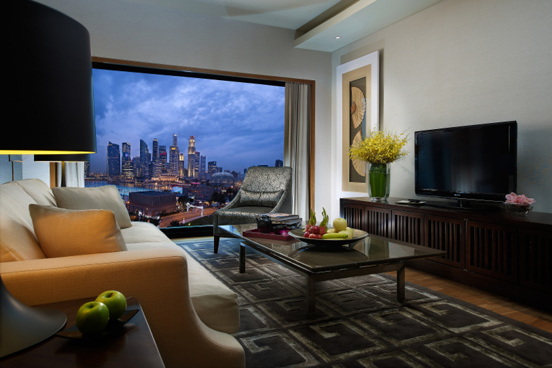 Interior of suite at Mandarin Oriental Hotel Singapore