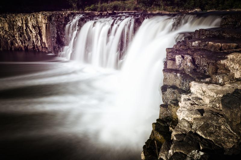 Haruru Falls in New Zealand.