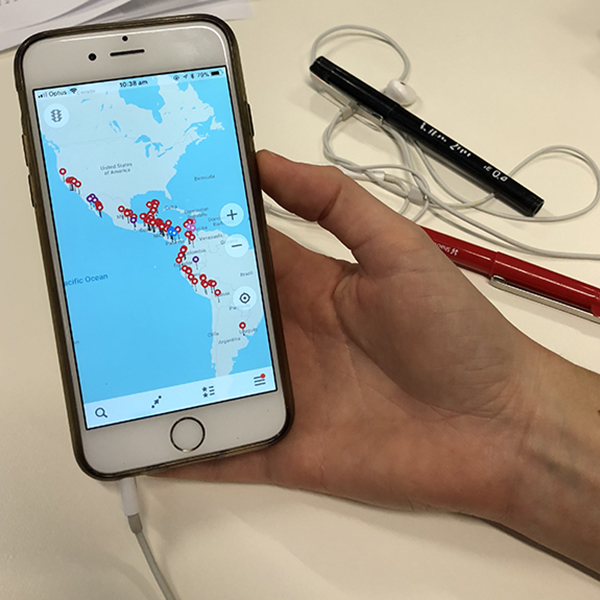 MapsMe app on a smartphone.