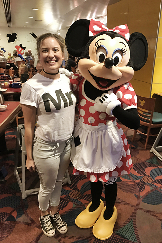 marnie matthews at disney character meet and greet breakfast