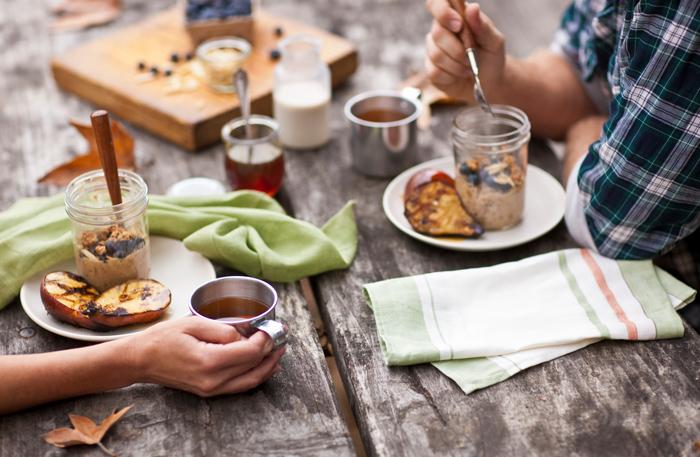 mason jar meal camping food