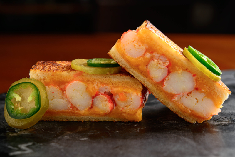 King Crab Melt from Adrift restaurant