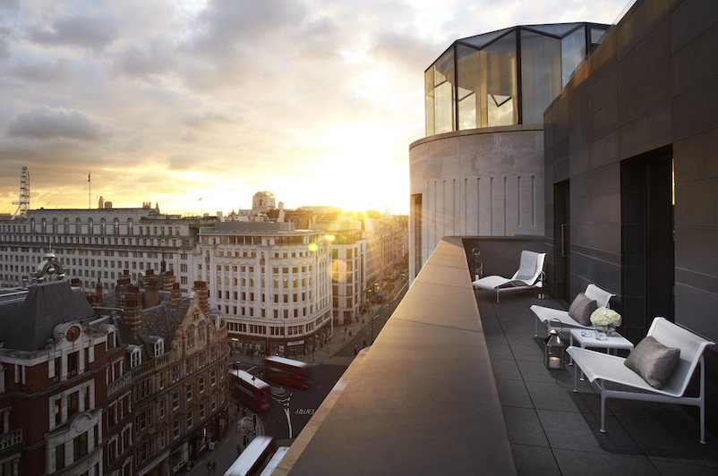 Sunset from West End's ME London