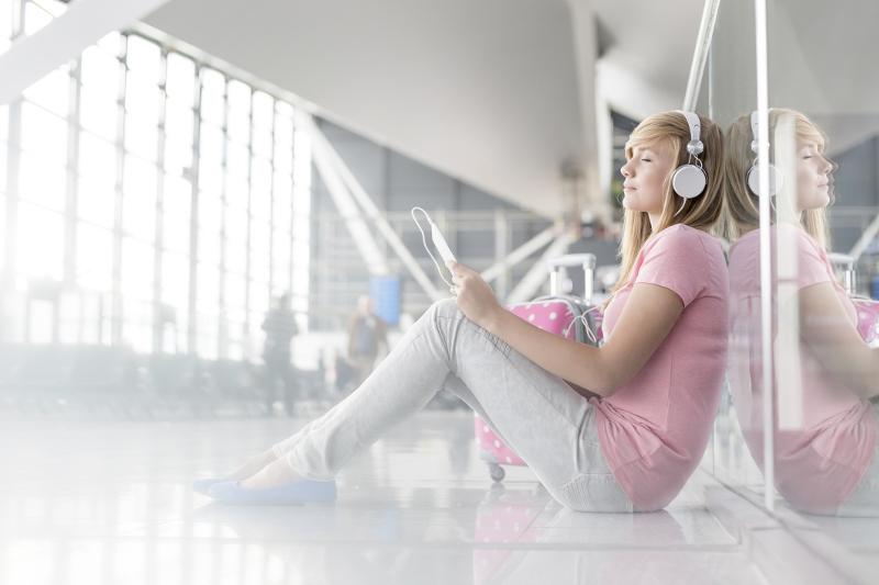 Meditating at airport