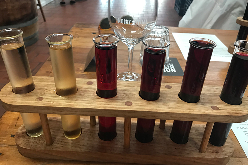 A wine flight at Noisy Ritual – Melbourne's urban winery