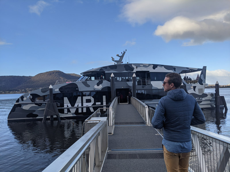 The ferry to MONA in Hobart
