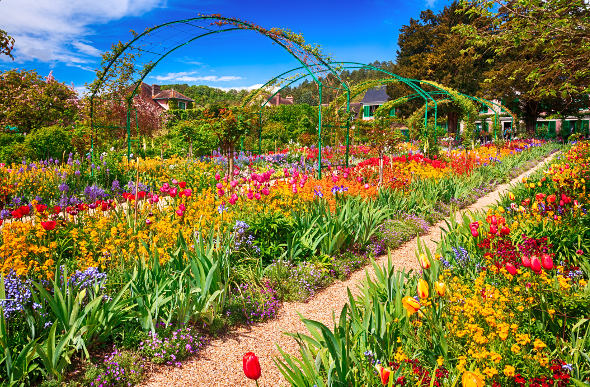 Monet's flower garden at Giverny, France.