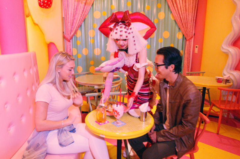 Greer and Keiichi at a cafe, Tokyo, Japan