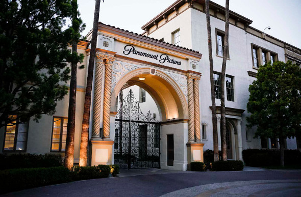 The famous Bronson Gate at Paramount studios, Los Angeles.