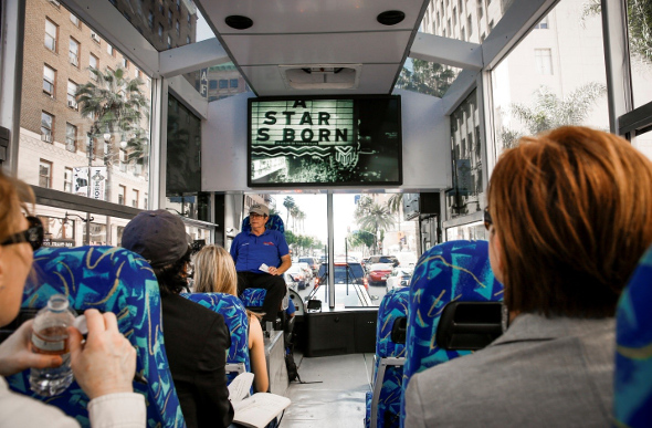 A bus tour of Hollywood's movie locations.