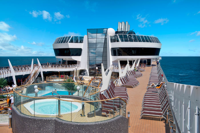MSC Divina top deck and pools