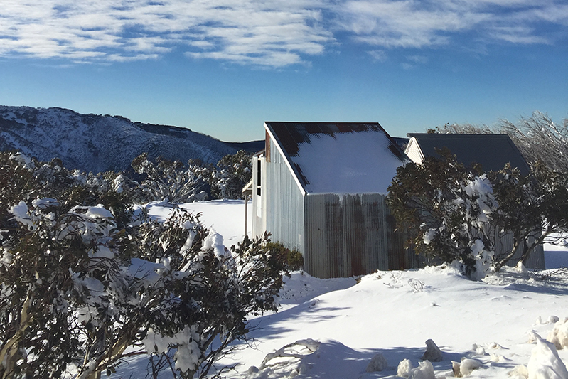 A snow-covered cabin in Mount Hotham