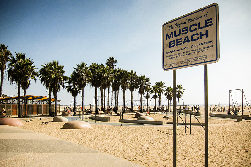 The famous Muscle Beach in LA