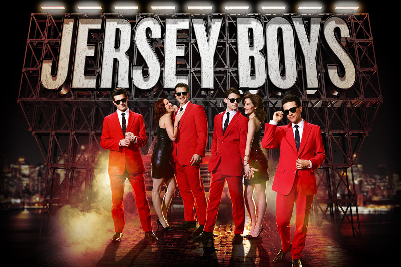 A poster for the Broadway musical Jersey Boys.