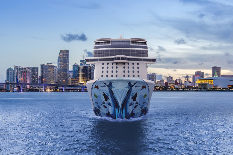 An artist's rendering of the new Norwegian Bliss cruise ship. Image: NCL