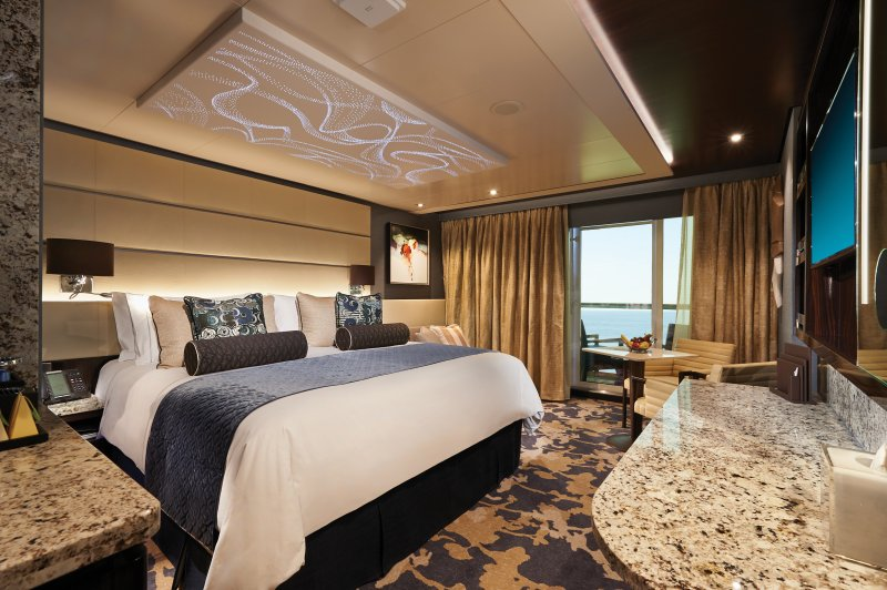 A Bliss Haven Courtyard Penthouse suite onboard Norwegian Cruise Lines.