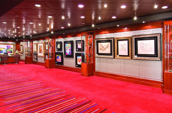 Norwegian Jewel's onboard Art Gallery.