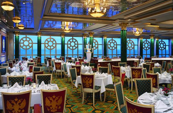 Tsar's Palace restaurant on board Norwegian Jewel.