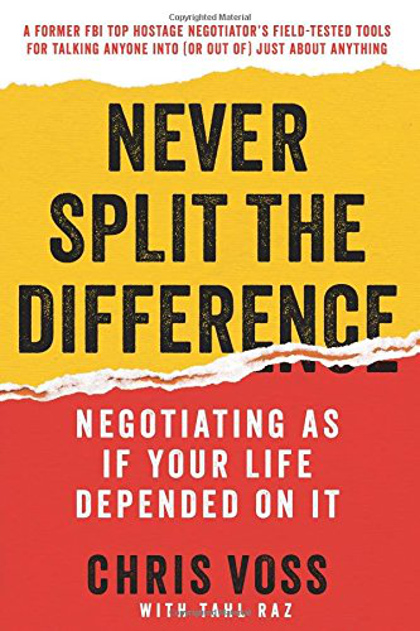 Cover of the book Never Split the Difference.