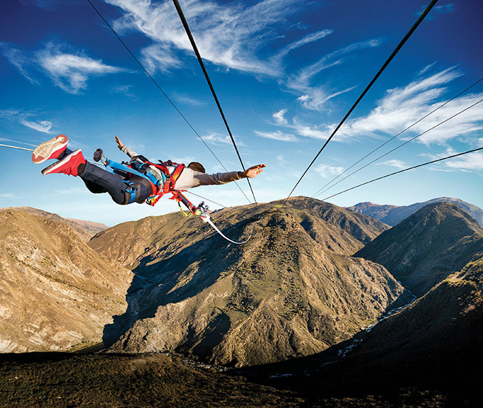 nevis bungy New zealand human catapult