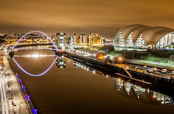 Newcastle at night