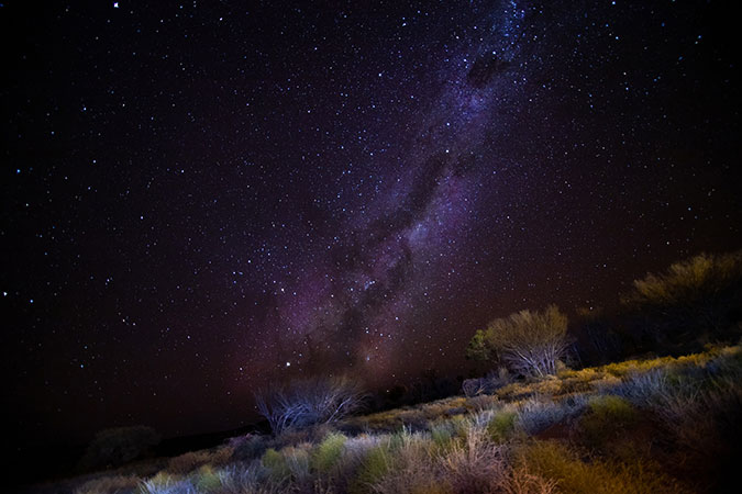Australia's Red Centre by night