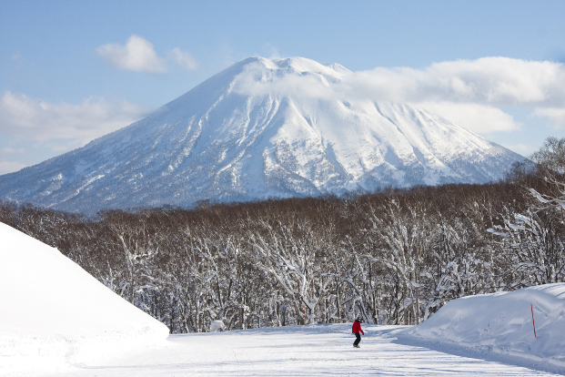 View of Mt Yotei from Niseko ski run