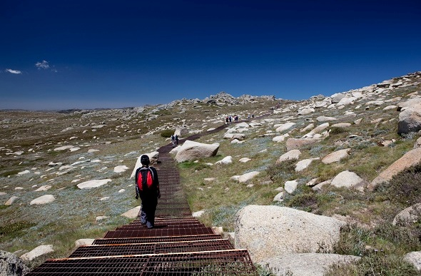 hiking to mount Kosciuszko
