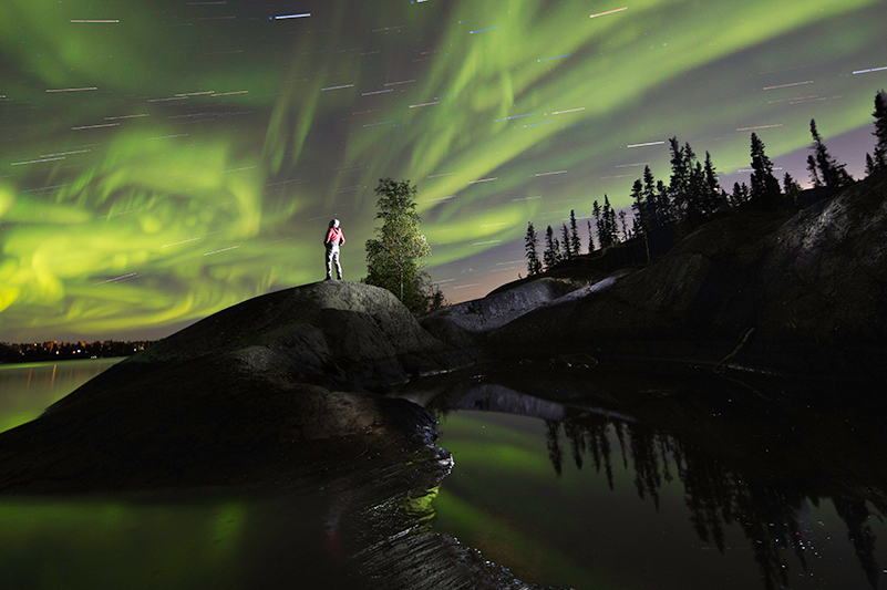 Starry skies and northern lights in the Northwest Territories